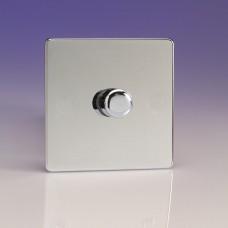 Szimpla VPRO forgógombos  fényerőszabályzó kapcsoló fényes króm