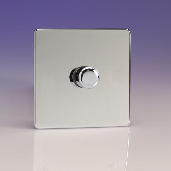 Szimpla VCom 400 W forgógombos fényerőszabályzó kapcsoló fényes króm
