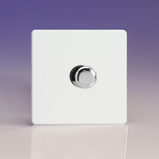 Szimpla VCom 400 W forgógombos fényerőszabályzó kapcsoló fehér műanyag