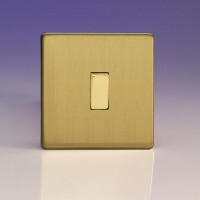 Single one or two way rocker switch brushed brass