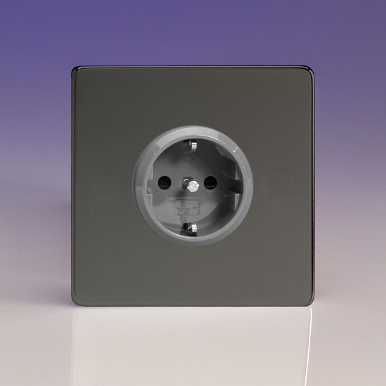Szimpla Schuko dugaszoló  aljzat iridium