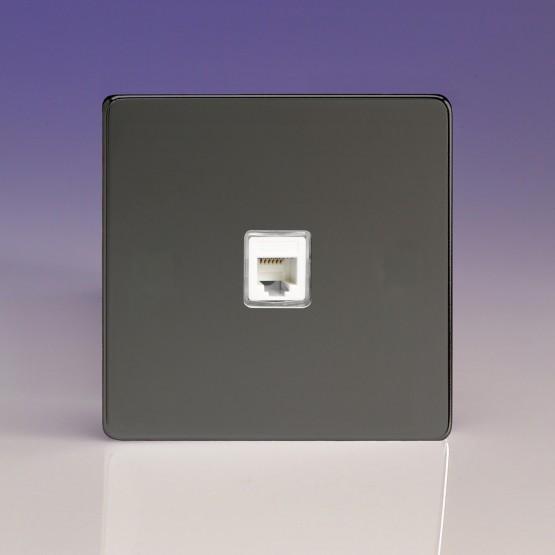 Szimpla RJ12 elefon aljzat iridium