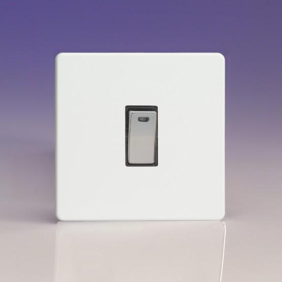 Szimpla egysarkú  kétpólusú 20 Amp billenőkapcsoló fehér műanyag