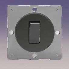 Keretbe szerelhető szimpla váltó/egysarkú billenő kapcsoló iridium