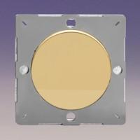 Grid  blank insert  polished brass