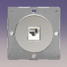 Keretbe szerelhető zimpla RJ45 CAt5 adatátviteli aljzat inzert fényes króm