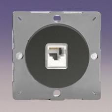 Keretbe szerelhető zimpla RJ45 CAt5 adatátviteli aljzat inzert iridium