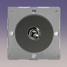 Keretbe szerelhető szimpla váltó/egysarkú karos kapcsoló iridium