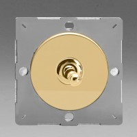 Grid single one or two way toggle switch  varnished brass