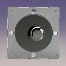 Keretbe szerelhető szimpla VPRO forgógombos  fényerőszabályzó kapcsoló iridium